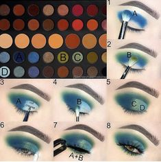 - YAY or NAY! I really like this palette? Double Tap if you ? this lo YAY or NAY! I really like this palette? Double Tap if you ? this look Morphe Brushes Dare To Create Makeup Eye Looks, Eye Makeup Steps, Makeup For Green Eyes, Cute Makeup, Creative Eye Makeup, Colorful Eye Makeup, Palette Morphe, Make Up Tutorial Contouring, Makeup Morphe