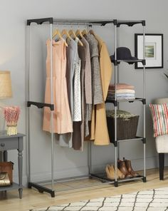 A free-standing closet to use when your bedroom (unfortunately) doesn't have a built-in one.   21 Awesome Products From Amazon To Put On Your Wish List