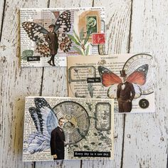 Paper Collage Art, Collage Art Mixed Media, Paper Art, Collage Book, Art Journal Pages, Journal Cards, Junk Journal, Art Journaling, Fancy Envelopes