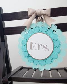 DIY Turquoise Chair Signs