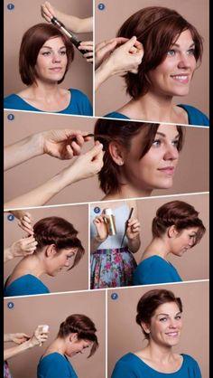 Kort hår frisure