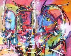 """Navaho"" Acryl on canvas, 2007 80cm x 100cm  In Henk Klinkhamer gallery"