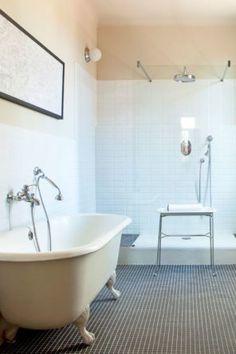 30 Salles De Bains Avec Douche Et Baignoire
