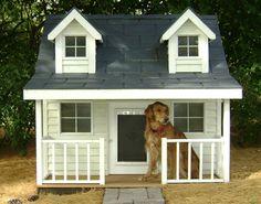 Cape Cod Dog House - Custom Dog Houses $499  petiteretreats.net