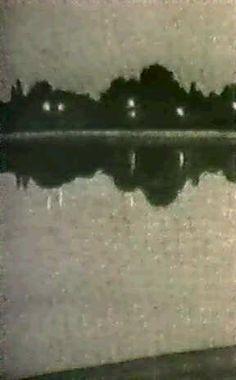 LANDSKAPSSPEGLING I VATTEN - AFTONLJUS: Stefan Johansson (1876 - 1955).