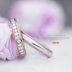 엔조 콤비 핑크밀그레인 & 2PR217 - enzo pink combi milgrain #반지 #커플링 #핑크골드 #밀그레인 #웨딩밴드 #엔조