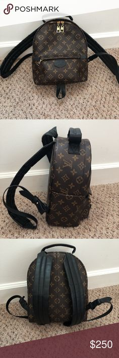 Louis Vuitton Backpack Small Pre- owned. Suede interiors. Bags Backpacks