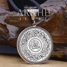 Nazar Ayeti Yazılı Gümüş Kolye - Arkhe Jewel Jaba, Pocket Watch, Pendant Necklace, Watches, Accessories, Jewelry, Jewlery, Wristwatches, Jewerly
