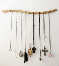 stick necklace holder