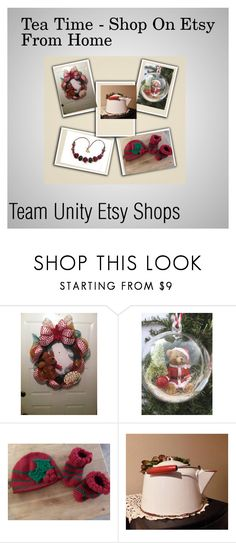 """Tea Time And Shopping From Home"" by hvaradhan ❤ liked on Polyvore featuring vintage, country, Christmas, babies, jewelry, homedecor and women"