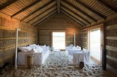 Located in Alentejo, Portugal, CasasNaAreia is an amazing beach-like cottage that takes old masonry buildings and turns them into a contemporary resort.