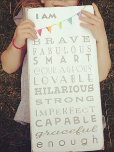 we wanted our daughters to know that they are brave. fabulous. smart. courageous. lovable. hilarious. strong. imperfect. capable. graceful. enough. we wanted them to read those words. everyday. to live them. and to love them. to know them. really know them. and to above all else, believe them. #kidsdecor #wallart