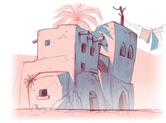 """""""PETPALS""""  background concepts for a tv series by Marco Pegoraro, via Behance"""