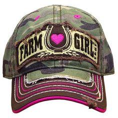 a4e300298a2 Farm Girl Lucky Shot Horseshoe Camo Western Hat F83080658 Country Girl  Style