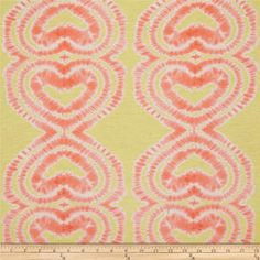 Designer Printed Jersey Knit Tie-Dye Lime/Orange  100% Cotton, 5.58  Width: 62''