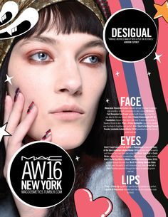 M·A·C Backstage at Desigual AW16 NYFW. Get the look with Eye Kohl in Costa Riche!
