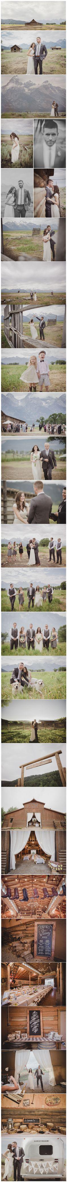 Grand Teton, Wyoming Wedding: Rachelle + Brian