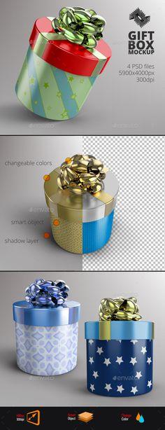 Round Gift Box Mockup - Product Mock-Ups Graphics Scene Creator, The Creator, Round Gift Boxes, Box Icon, Product Mockup, Customizable Gifts, Box Mockup, Game Ui, Bottle Crafts