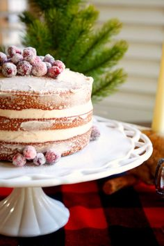 gingerbread cake with holiday spiced cream cheese frosting christmas dessertschristmas - Easy Christmas Desserts Pinterest