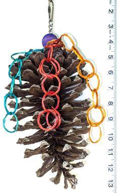 Jumbo Pine Cone Preener bird toy