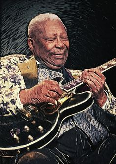 King II Digital Art by Taylan Apukovska Jazz Blues, Blues Music, Jazz Painting, Bb King, Jazz Art, Blue Poster, King Art, Music Images, Blues Rock