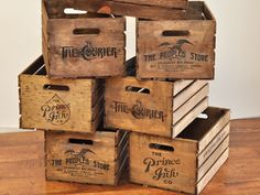 Vintage inspired crates designed by Prince Ink. Connect with them on Dribbble; the global community for designers and creative professionals. Vintage Crates, Old Crates, Speakeasy Party, Pop Bottles, Old Signs, My Tea, Wooden Boxes, Diy Art, Design Projects