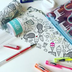 Thank goodness for @dcwvinc ! This colorable washi tape has been keeping my my daughter entertained for hours!!!! I confess I stole some of it that's ok right?! #dcwvinc #washitape #coloringfun #coloring #targetstyle  #liveincolor #thelovelynow #thatsdarling #kidscrafts #kidscoloring #summerfun #colorcommunity #iamcreative