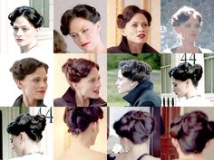 Irene Adler - I just love her hair! I would tweak the part just tad more off center though