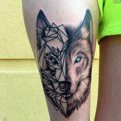 geometric animal tattoo - Google Search