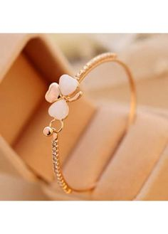 New Arrival Clover Gemstone Decoration Metal Bracelet on sale only US$5.72 now, buy cheap New Arrival Clover Gemstone Decoration Metal Bracelet at modlily.com