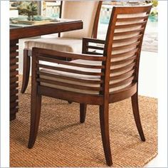 Tommy Bahama Home Ocean Club Kowloon Arm Dining Chair - Ships Assembled