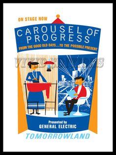 DISNEYLAND TOMORROWLAND CAROUSEL OF PROGRESS POSTER - VividEditions