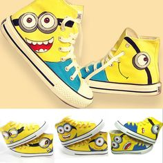 Goods.Site - Size 35-44 Men and Women Sneakers 2015 Despicable Me Minions Unisex Canvas Casual high top Hand-painted Canvas Shoes 5 styles
