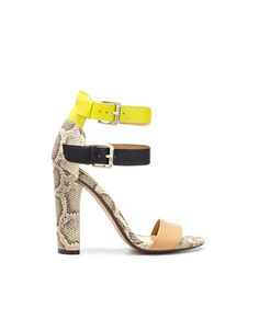HIGH HEEL SANDAL WITH BUCKLES  Height of heel: 11 cms./ 4,33 inches.  $89.90 USD    89.90 USD