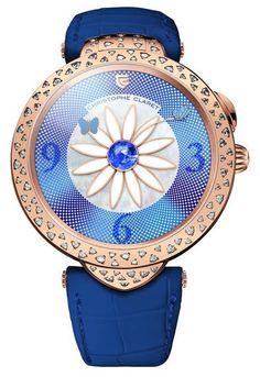 Christophe Claret MTR.MT115.120-150 Pieces D'Art Marguerite - швейцарские женские часы - наручные, золотые, голубые