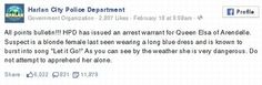 Polícia americana culpa Elsa por temperatura congelante +http://brml.co/1z5Urht