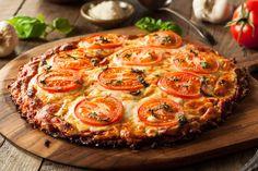 Intermittierendes Fasten Pizza Rezept mit Blumenkohl und Tomate