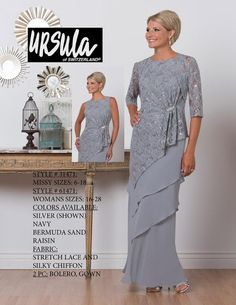 Ursula 61471 Plus Size Tiered Mother of the Bride Jacket Dress Mother Of The Bride Jackets, Mother Of The Bride Plus Size, Mother Of The Bride Dresses Long, Mother Of Bride Outfits, Mothers Dresses, Long Mothers Dress, Plus Size Dresses, Plus Size Outfits, Mom Dress