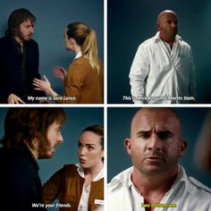 """""""My name is Sara Lance. This is Mick Rory and Martin Stein. We're your friends"""" - Sara, Stein, Mick and Rip(Two of them r, Mick not so much buddy buddy with Rip) Superhero Shows, Superhero Memes, Best Superhero, Legends Of Tommorow, Dc Legends Of Tomorrow, The Cw Shows, Dc Tv Shows, Supergirl Dc, Supergirl And Flash"""