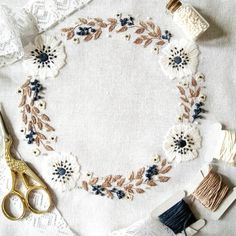"79 Likes, 11 Comments - Amina, embroidery artist ✂ (@stitch_floral) on Instagram: ""Winter already stepped away, but I saved its mood with this embroidery design. More information…"""