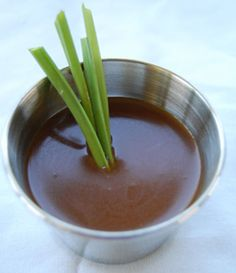Peanut Sauce from Pho 95  There are many, many recipes for peanut sauce. Some are very simple and others are very complex. Here is a recipe for the basic of basics in peanut sauce and it only involves two Ingredients. Feel free to adjust it as many have already done. Add some hot sauce or spruce it up with some cilantro. Ultimately it is a peanut sauce you will enjoy.    1 cup Plum Sauce (hoisin sauce)  1 cup Peanut butter    1. Mix all the Ingredients over a low heat and enjoy.