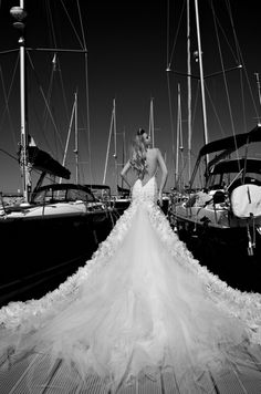 50 Gorgeous Wedding Dresses with Train | Beautiful, Wedding and Gowns