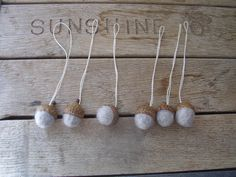 Felted wool acorn ornaments