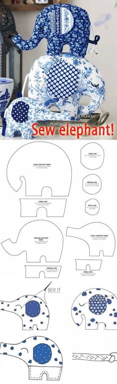 How to Sew an Elephant? How to Sew an Elephant? ~ Sewing toys for beginners. Step by step sew tutorial. How to Sew an Elephant? ~ Sewing toys for beginners. Step by step sew tutorial. Easy Sewing Projects, Sewing Projects For Beginners, Sewing Hacks, Sewing Tutorials, Sewing Crafts, Sewing Patterns, Dress Patterns, Tutorial Sewing, Craft Projects