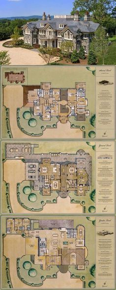 New House Plans Mansion Kitchens Ideas Luxury Floor Plans, Luxury House Plans, Luxury Homes Dream Houses, Dream House Plans, Dream Homes, Modern House Floor Plans, House Plans Mansion, Sims House Plans, Castle House Plans