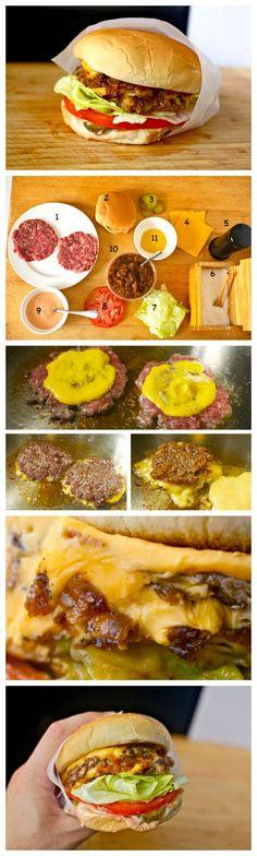 77 Delicious Cheeseburger Recipes for #NationalCheeseburgerDay: Homemade Mc Donald's Old-School Cheeseburger Copycat