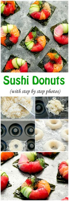 Sushi Donuts with step by step photos