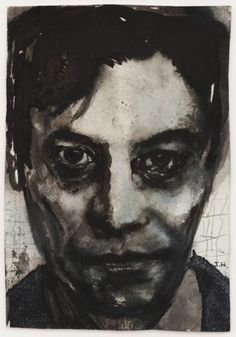 Marlene Dumas J.H., 1992 ink and crayon on paper 20,5 x 14,0 cm