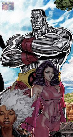 OUTBACK X-MEN COMMISSION P;  Colossus and Psylocke