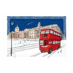 The National Gallery, Bus Detail Greetings Card
